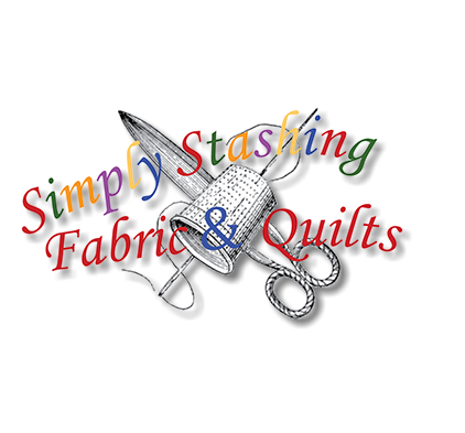 Simply Stashing Fabric and Quilts Logo